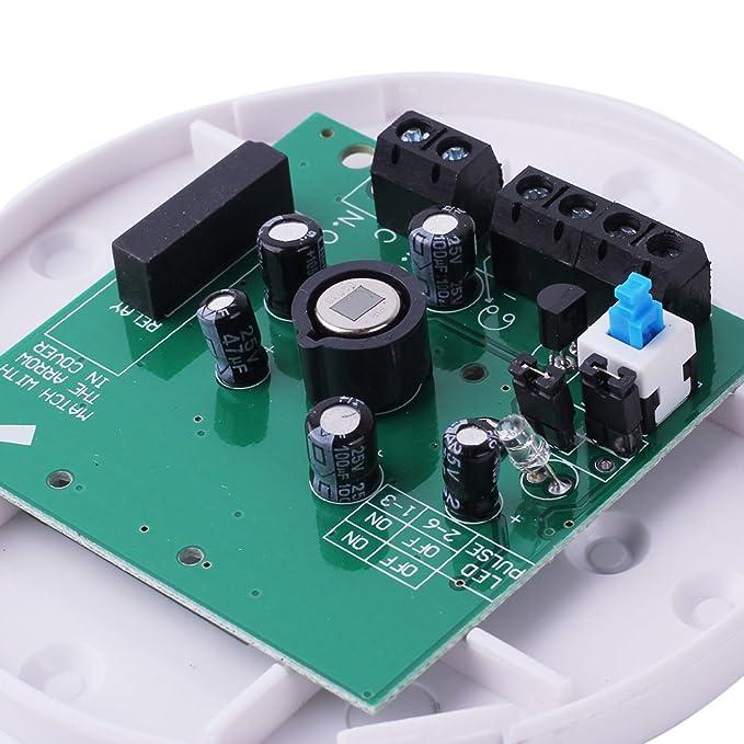 Pinzhi Detector de movimiento por infrarrojos PIR Sensor techo hogar Sistema de alarma de seguridad DC 12 V: Amazon.es: Bricolaje y herramientas