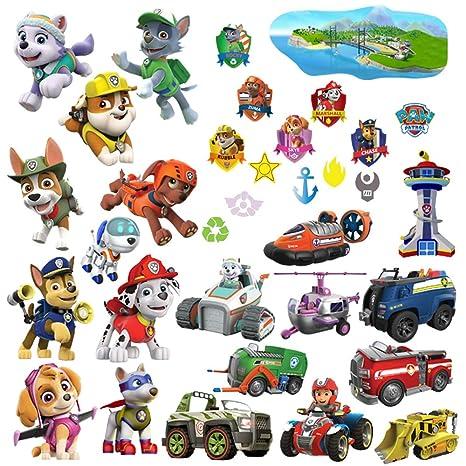 Paw Patrol Wandtattoo für Kinderzimmer Dekoration für Jungen und Mädchen  Groß Kinder