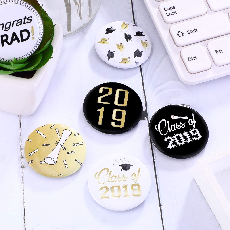 Norme Botones de la graduación 2019 de 30 pedazos Botones de la ...