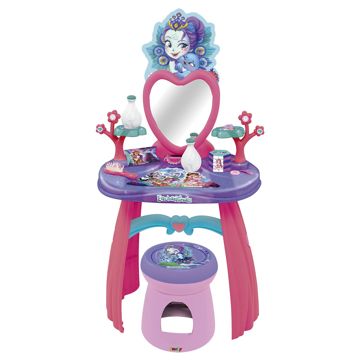 Smoby Enchantimals Dressing Table, Purple, Pink (320229)