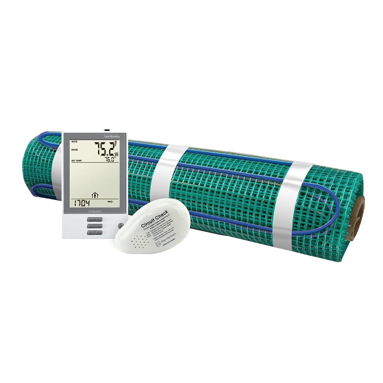 WarmlyYours TRT120-KIT-OT-1.5x33 TempZone Flex Electric Floor Heating Roll Kit, 50 sq. ft, ProgrammableThermostat
