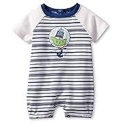 0db16b7c4fac Absorba Baby-boys Newborn Knit Stripe Creeper, Multi, 0-3 Months