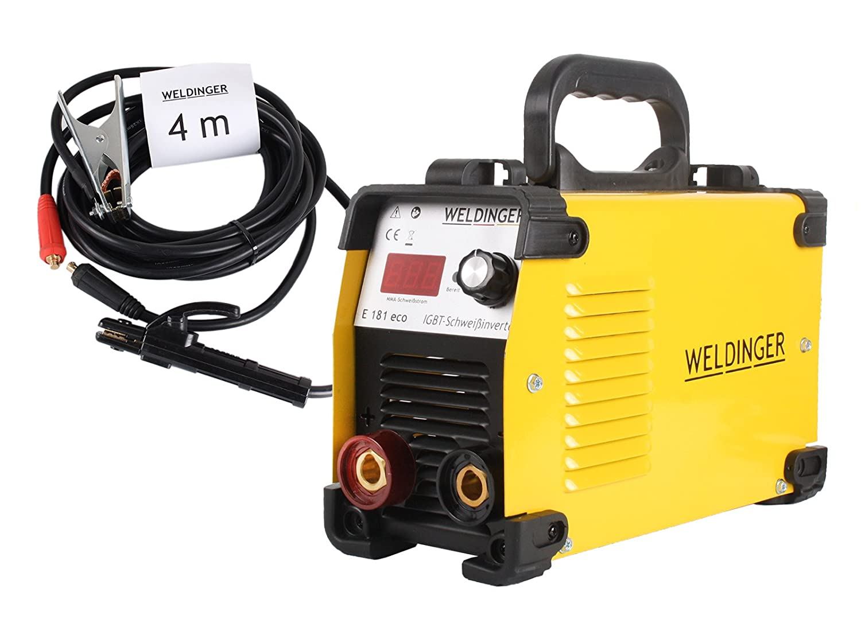 WELDINGER Elektroden-Schweiß gerä t 'E 181 eco' inkl. Automatik-Schweiß helm (DIN 9-13)