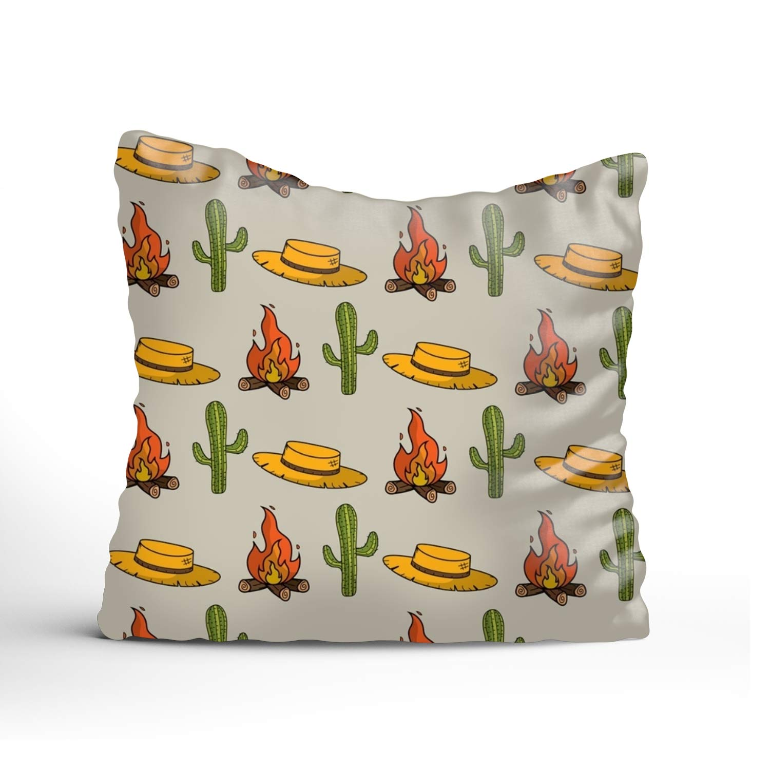 YooSoeLink 400-Thread-CountHat Cactus and Wood Cotton Sateen Hotel Stitch Sham - Standard, Navy