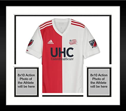 Framed Luis Caicedo New England Revolution Autographed Match-Used White  27  Jersey vs. 1d108d8bb6fc