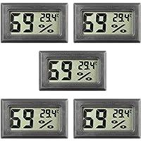 Mini hygrometer, 5-pack termometer hygrometer digital LCD-skärm inomhus luftfuktighet mätare mätare för luftfuktare…