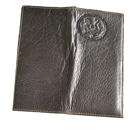 Billetera de hombre Cartera de cuero genuino de los hombres Cartera larga de los hombres Cartera