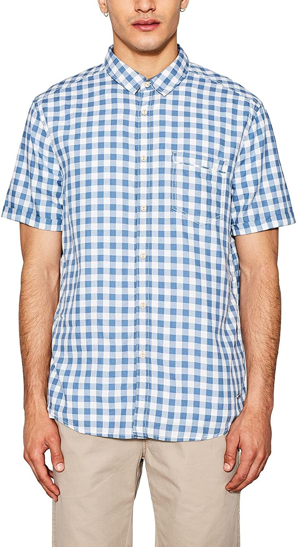 edc by Esprit 067cc2f007 Camisa, Blanco (White 100), Large para Hombre: Amazon.es: Ropa y accesorios
