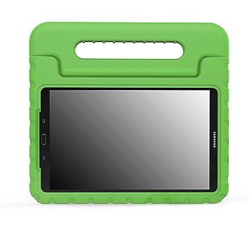 MoKo Funda Compatible con Samsung Galaxy Tab A 10.1(SM-T580/T585, sin Lápiz) - Ligera y Super Protectora diseñada Especialmente para los niños, Verde