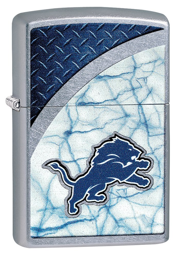 Zippo NFL Detroit Lions Street Chrome Pocket Lighter by Zippo