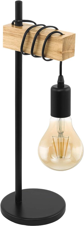E27 EGLOTischlampe,1 flammige Vintage Tischleuchte im Industrial Design Fassung