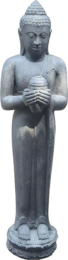 korb. outlet Grandes Figura de Buda con Flor de Loto de Piedra/stehender Piedra Buda 150 cm, Piedra Escultura/para casa y jardín: Amazon.es: Juguetes y juegos
