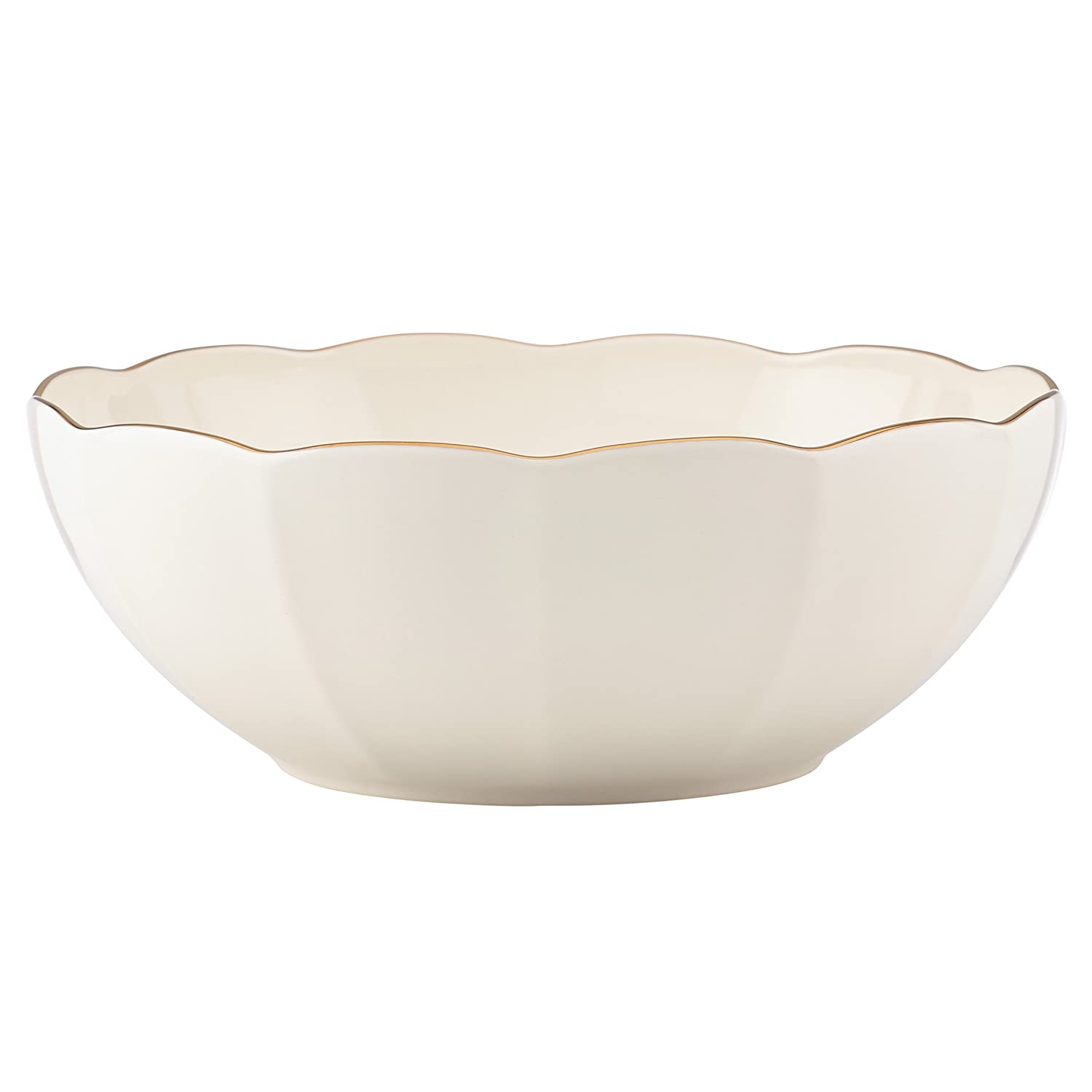 f02ad57fa1 Amazon.com: Marchesa Shades of White Serving Bowl by Lenox: Kitchen & Dining