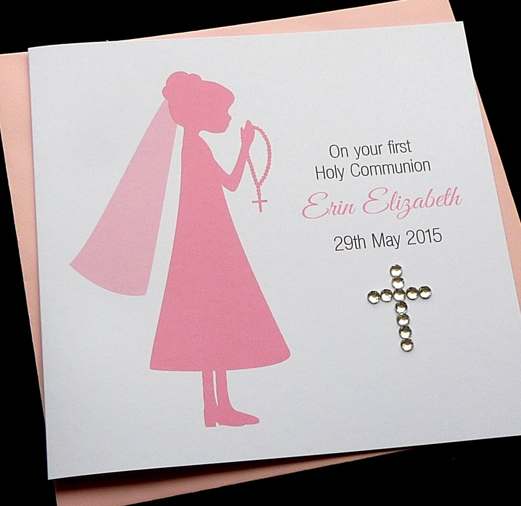 Handmade personalised girls first holy communion card amazon handmade personalised girls first holy communion card amazon handmade kristyandbryce Choice Image