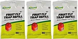RESCUE! Fruit Fly Trap Attractant Refill – 30 Day Supply – 3 Pack