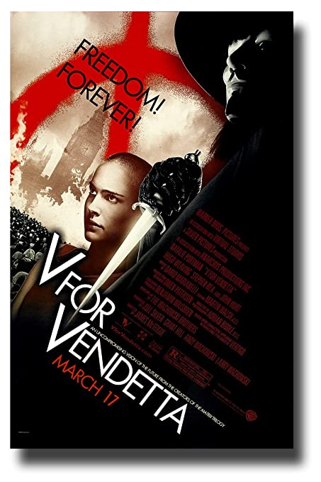 V For Vendetta Poster Movie Promo 11 x 17 inches Freedom Forever Cape