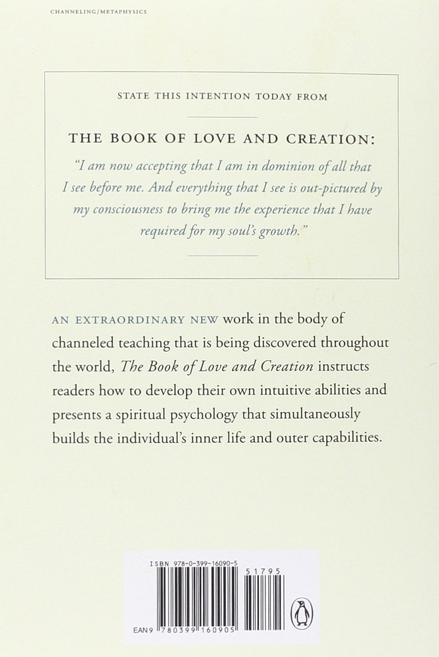 The Book Of Love And Creation: A Channeled Text: Paul Selig: 9780399160905:  Amazon: Books