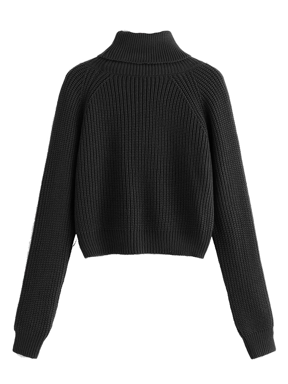 b7235646e1 Milumia Turtleneck Winter Sweaters Long Sleeves Fitted Crop Sweater Fall  Fashion Sexy Wear at Amazon Women s Clothing store