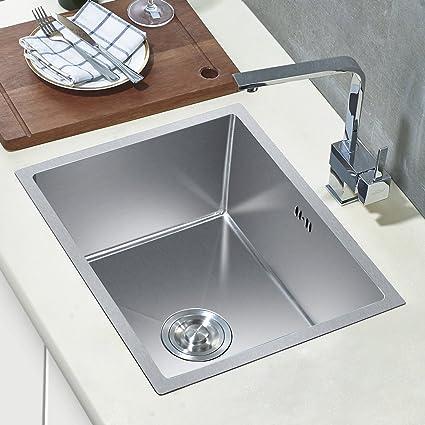 Auralum Lavelli per cucina in acciaio inox 80 X 45 X 22 CM (L×W×H) + ...