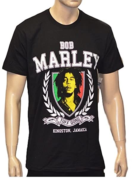 T-shirt Novelty Cool Tops Mens Short Sleeve Tshirt Bob Marley T-shirts Rastafari T-shirt Tops & Tees