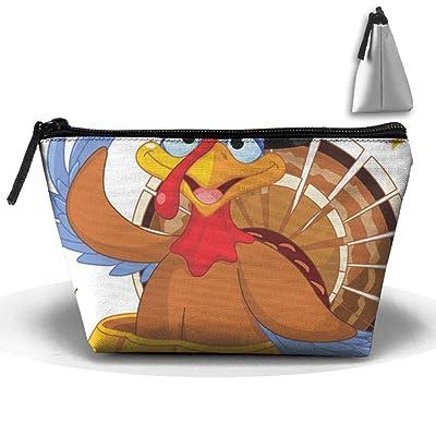 Unisex Thanksgiving Turkey In Pumpkin Trapezoid Portable Travel Bag Makeup Multifunction Cosetic Bags Travel Organizer Bag Storage Bag Pouch Multi Pocket