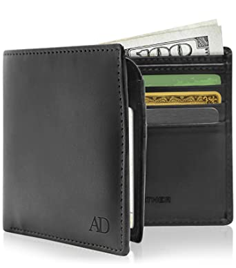 1ba3ebe60afc Vegan Leather Bifold Wallets For Men - Cruelty Free Non Leather Mens Wallet  With ID Window Gifts For Men at Amazon Men s Clothing store