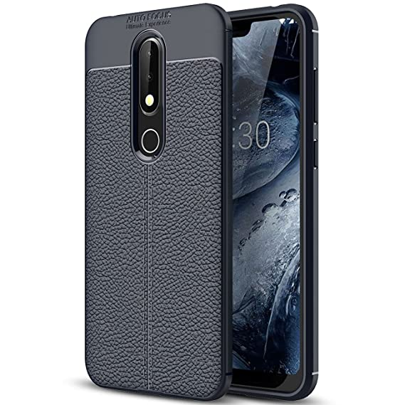 half off 65f32 5e183 Amazon.com: Nokia 6.1 Plus Case, Nokia 6.1 Plus Faux Leather Case ...