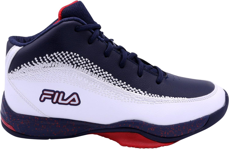 Basketball Sneaker,White/NavyRed,10.5