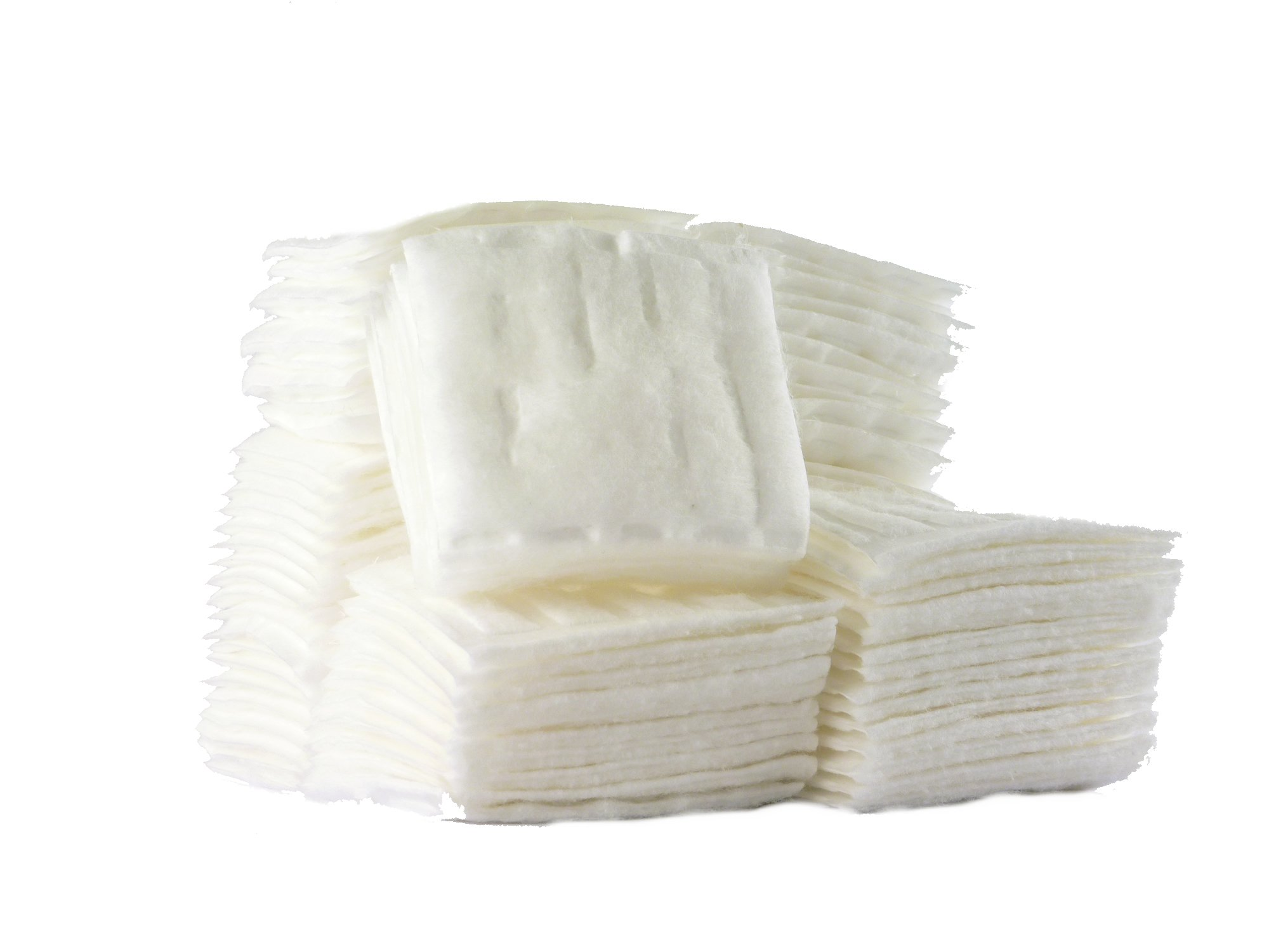 Cotton Squares, Cotton Pad Squares, 100% Cotton, 480 pieces (80 pieces, 6 packs)
