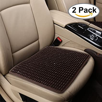 Amazon Com Beaded Seat Cover 2pc Comfort Wooden Beads Seat Cushion
