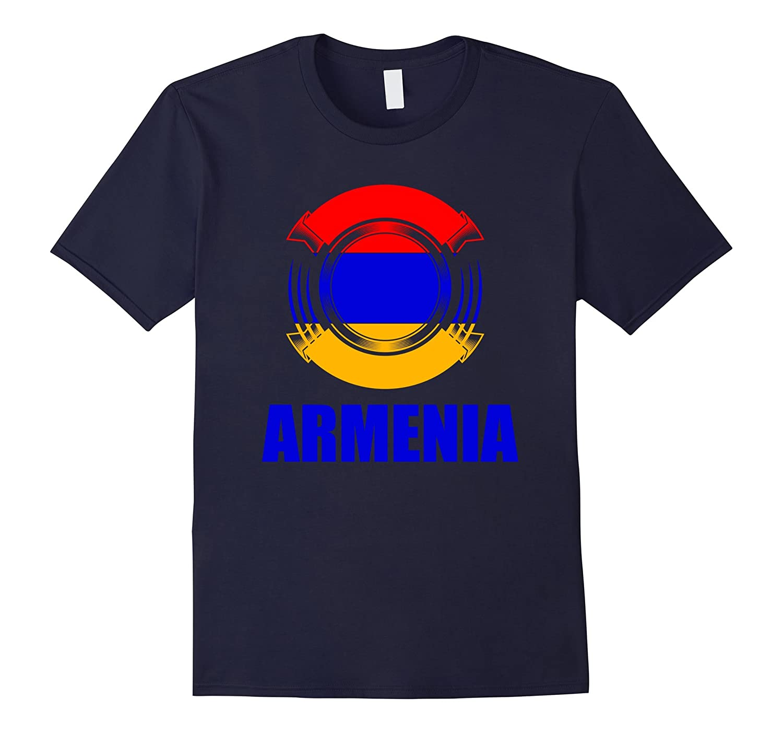 Armenia Flag Badge Pride Gift T-Shirt-TH
