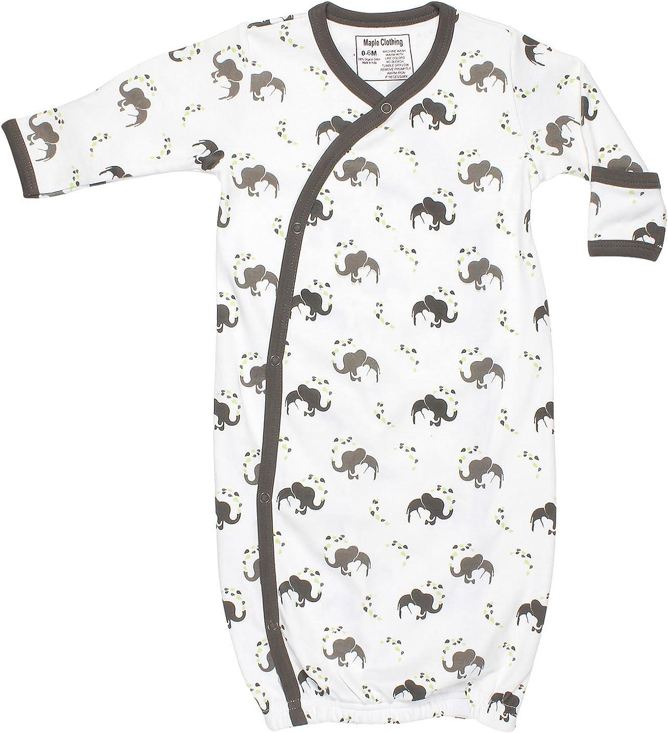 Organic Cotton Baby Bundler Sleepwear Kimono Gown GOTS Certified Clothing