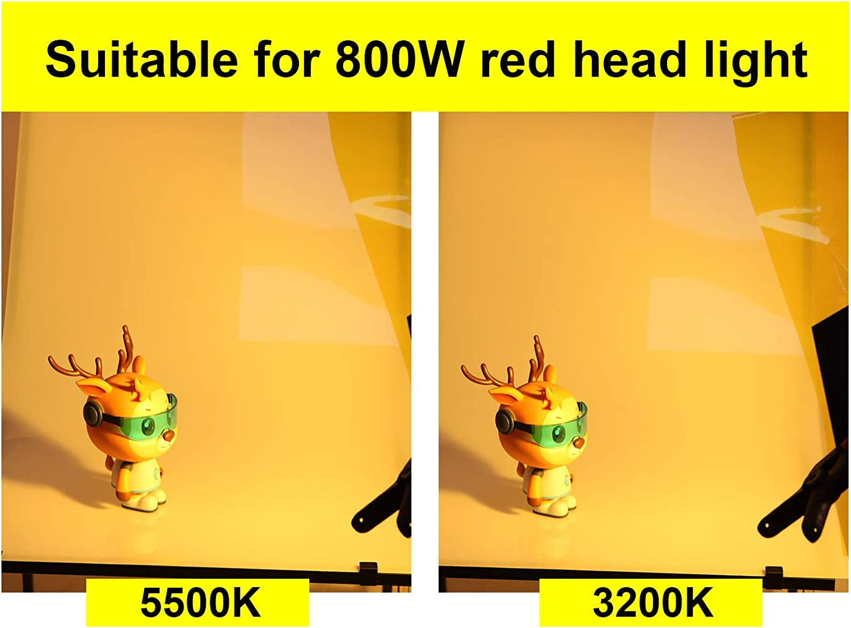 Selens 16x20 Color Gel Filter Correction Lighting for 800W Light Red Head Light Strobe Flashlight Photo Studio Photography,Green/&Yellow
