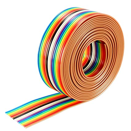ec2330233667 Image Unavailable. Image not available for. Color  uxcell Flat Ribbon Cable  16P Rainbow IDC ...