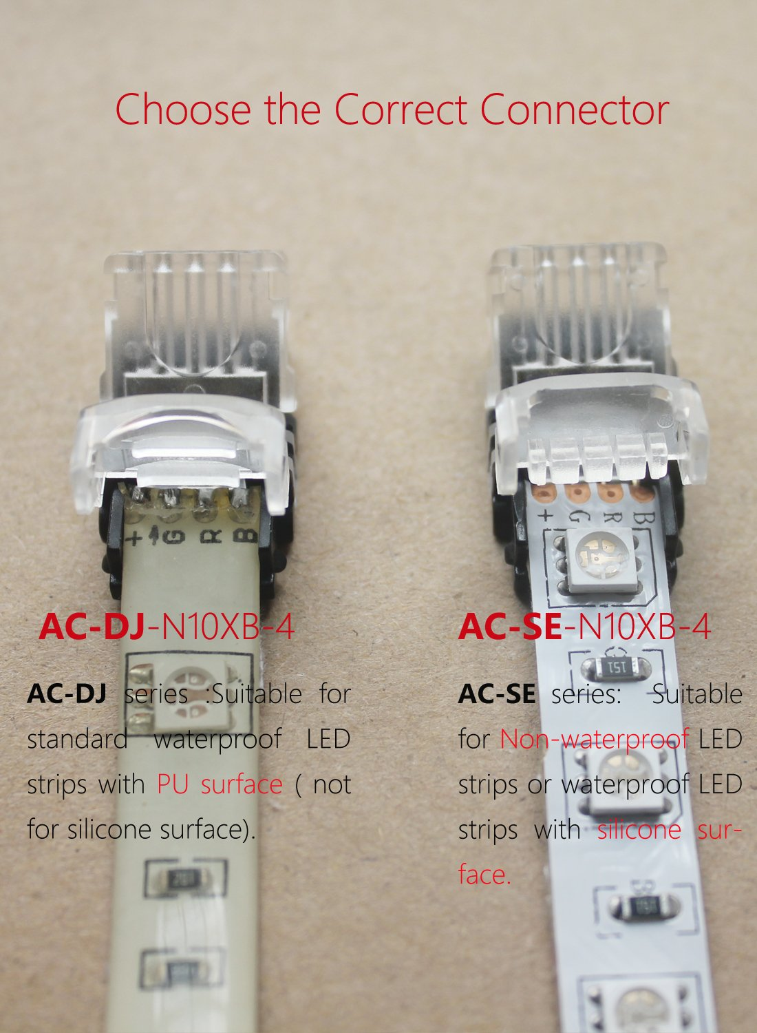 Alightings Rgb Led Connector For 4pin 5050 Non Waterproof Strip Quick Adapter Wiring Multi Color 5050smd Lights To Wire Connection 20 18 Awg No Stripping
