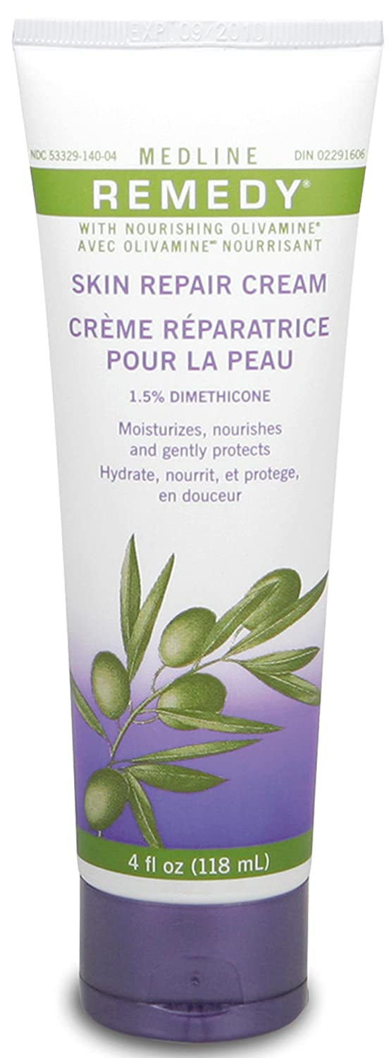 Medline Remedy Unscented Olivamine Skin Repair Cream, 4 Fluid Ounce