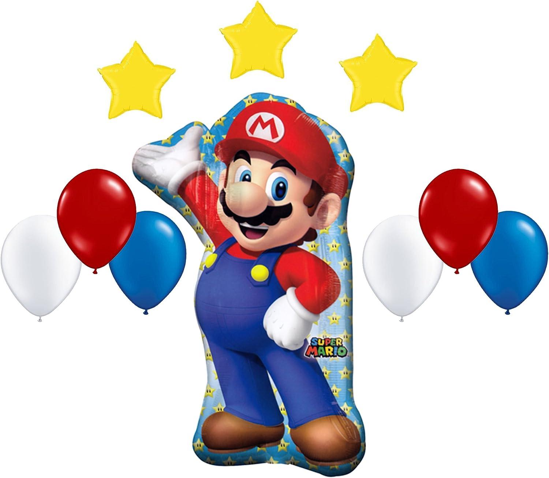 XL SUPER BIG Super Mario Bros 3 Pcs Helium Balloons Birthday Party FAST USA