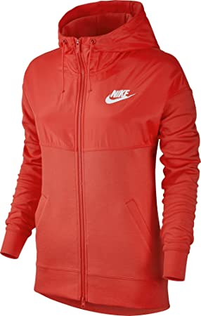 Nike W NSW Av15 Hoodie FZ Sudadera, Mujer, Naranja (MAX Orange/White), XL: Amazon.es: Deportes y aire libre