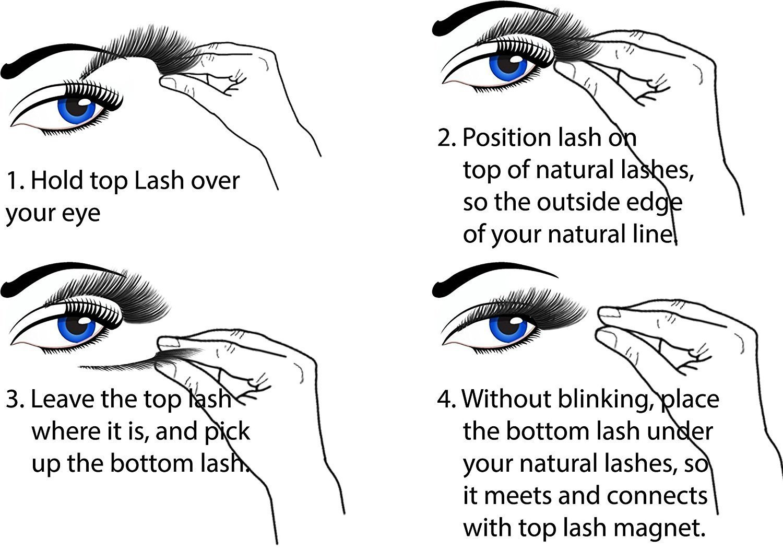 8 PC Magnetic False Eyelashes, 3D Black Dual Magnetic, Ultra Thick Ultra Solf And Long for Entire Eyes, Glamorous, Natural Look, Handmade Reusable Eyelashes (Black) 8Pcs (8pcc)