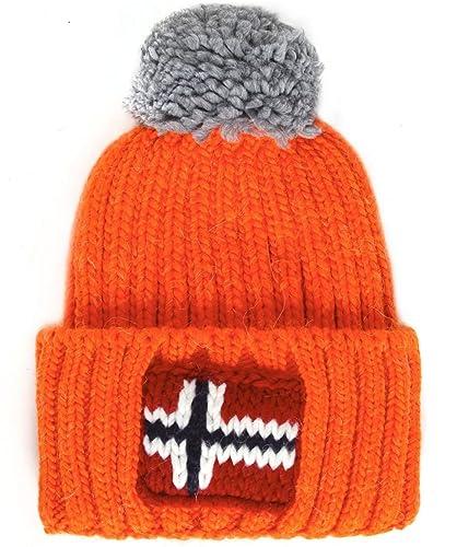 Napapijri Semiury Bobble Hat One Size Orange  Amazon.co.uk  Shoes   Bags 8004f3b58df