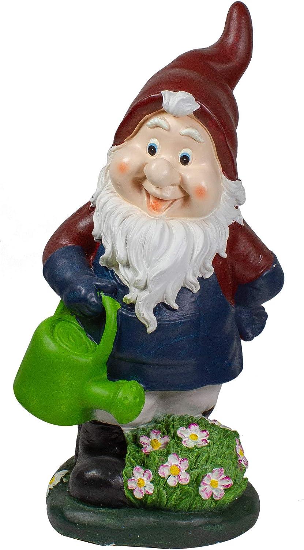 "Northlight 20"" Gardener Gnome with Watering Can Outdoor Garden Statue"