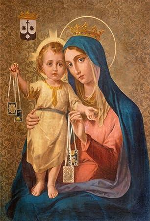Amazoncom Aofoto 5x7ft Virgin Mary Backdrops Baby Jesus Christ