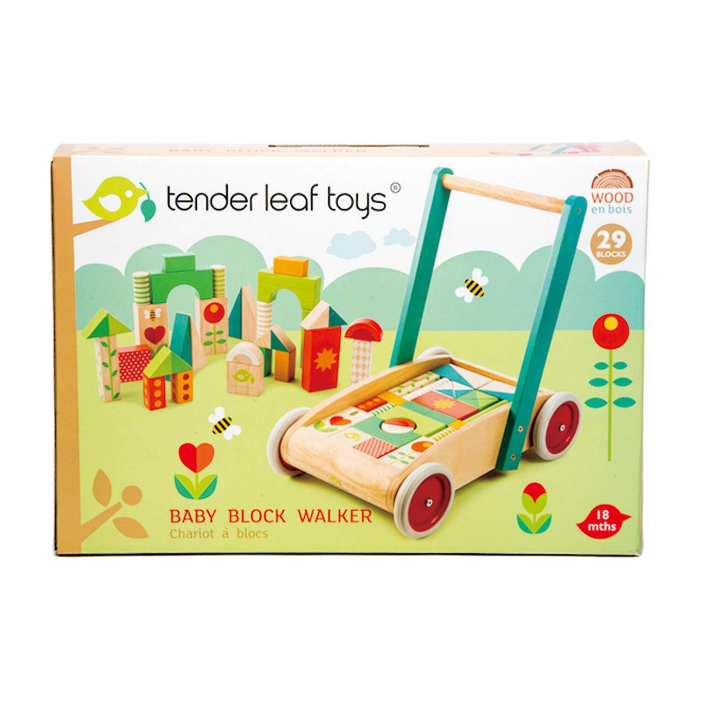 Tender Leaf Juego Aprendizaje Andador Bloques Madera, (1): Amazon ...