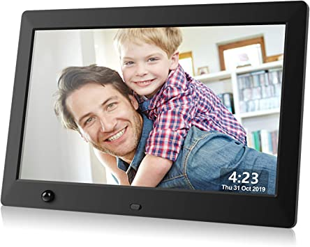 Amazon Com Dhwazz Digital Photo Frame 10 5 Inch Usb Ips Hd Electronic Picture Frames With Remote Control Share Moments Via Sd Card And Mini Usb Support Slideshow Video And Music Motion Sensor