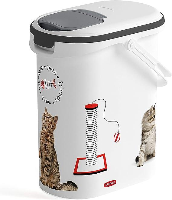 CURVER 241098 - Contenedor para Pienso 4 Kg/ 10 L, 19 x 29 x 34 cm: Amazon.es: Productos para mascotas