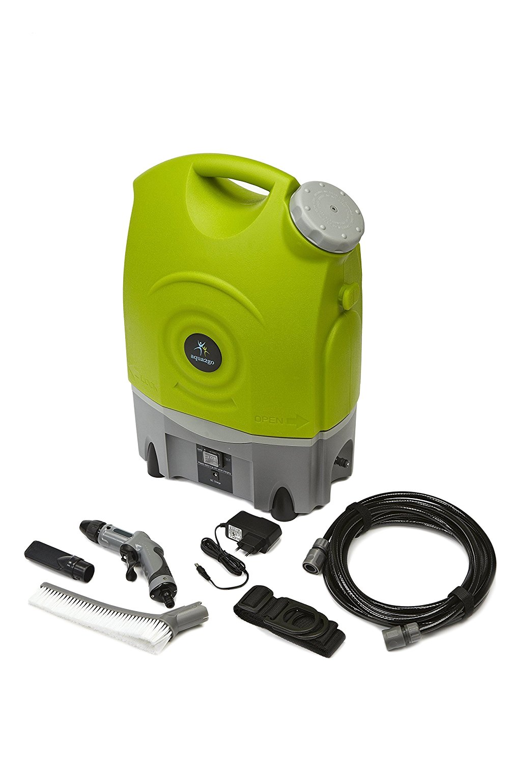 Aqua2Go Multipurpose Outdoor Portable Spray Washer with 17 Ltr/4.5 Gal Water Tank, Up to 130.5 psi, Hose length of 19.5 ft, Includes Rechargeable Battery