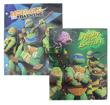 Teenage Mutant Ninja Turtles Folders - 2 Pack - Designs May Vary
