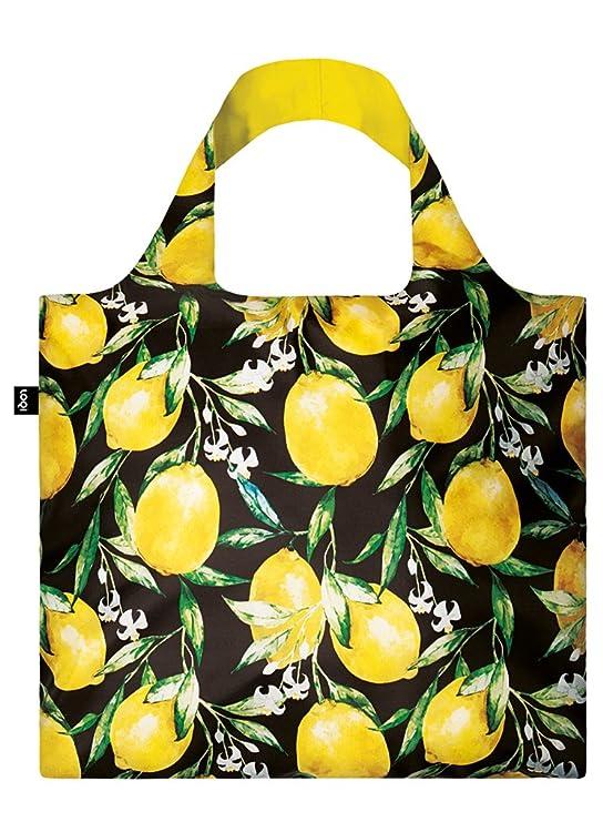 LOQI Juicy Einkaufstasche/Reisetasche Reise-Henkeltasche, 50 cm, Lemons