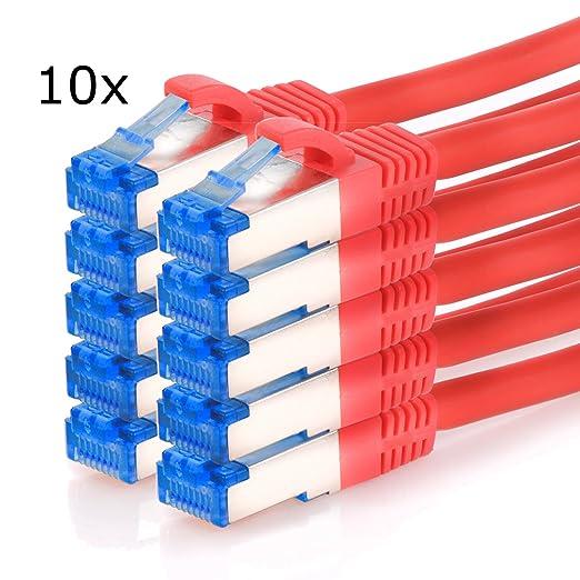 49 opinioni per TPFNet (10 Pezzi) Cavo di rete 3m – Superiore Cat.6A Cavo Ethernet SFTP DOPPIA