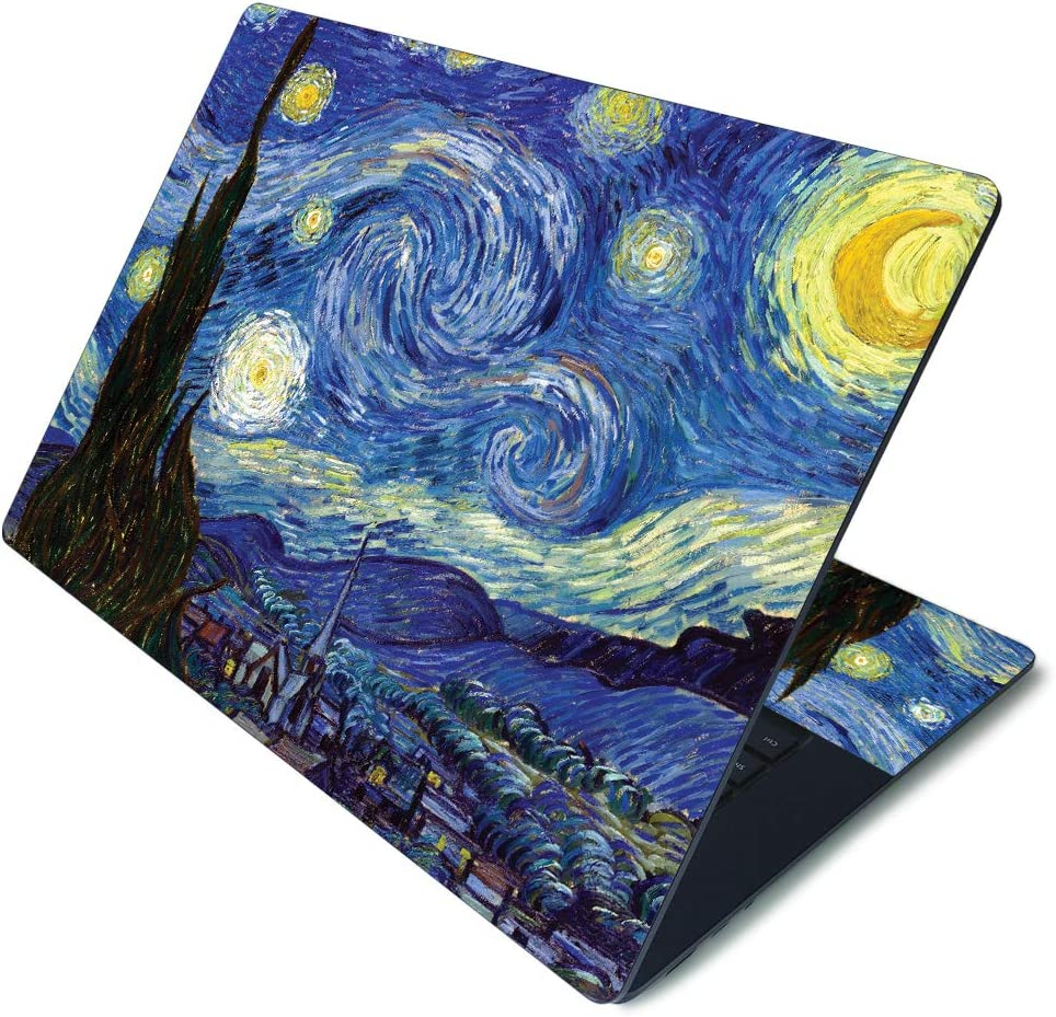"""MightySkins Skin for Microsoft Surface Laptop 3 15"""" - Starry Night   Protective, Durable, and Unique Vinyl Decal wrap Cover   Easy to Apply, Remove, and Change Styles   Made in The USA"""